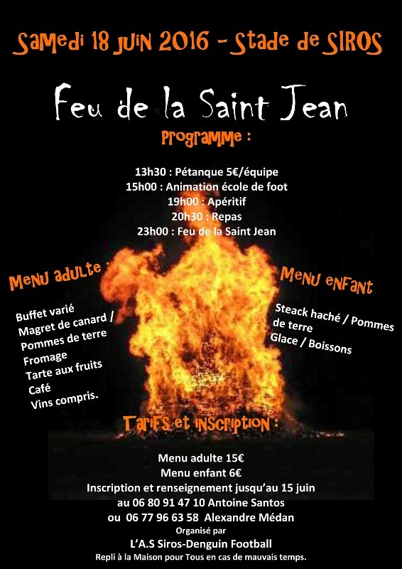 Flyer Feu Saint Jean 2016